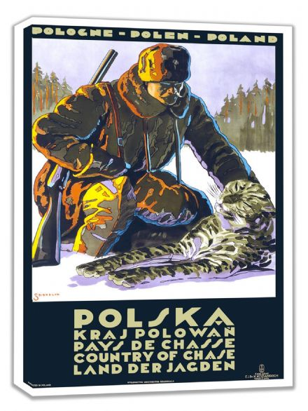 Poland/Polska: Country of Chase. Vintage Travel Canvas. Sizes: A4/A3/A2/A1 (002700)